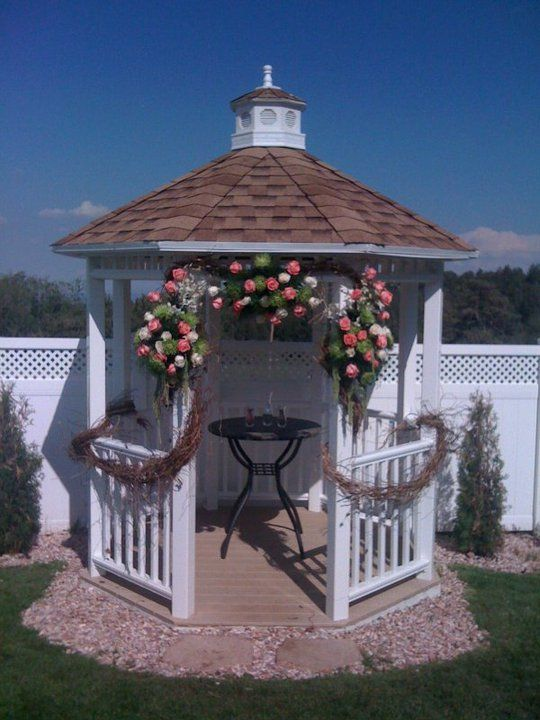 Rustic Gazebo Decorations  Weddingbee Boards  Weddings