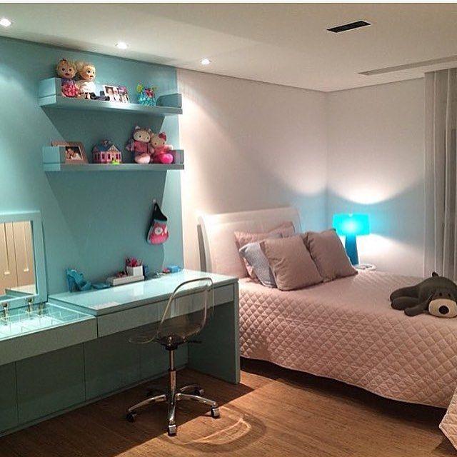 Eu amo tons de azul, esse quarto ganhou meu ❤️ hehe. Por Laura Rocha. @decoreinteriores