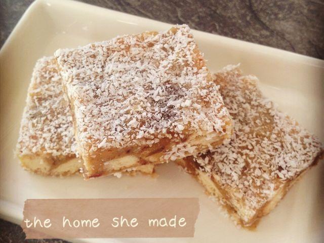 Caramelised sticky date slice recipe