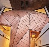 Extravagant folded copper roof to Georgian townhouse