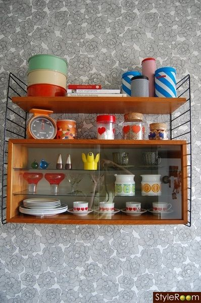 Nice shelf! - organizing thrifted and vintage finds to be seen