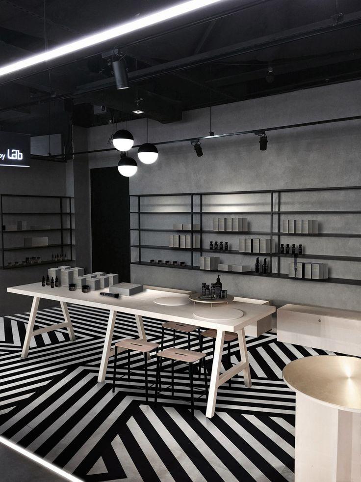 Aurelien Barbry Adds Striped Floor To Facesss Hong Kong Lab