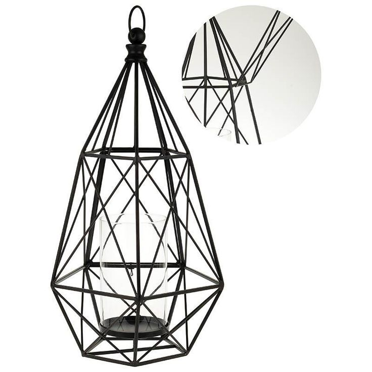 Wonderful metal #lantern in black color. www.inart.com