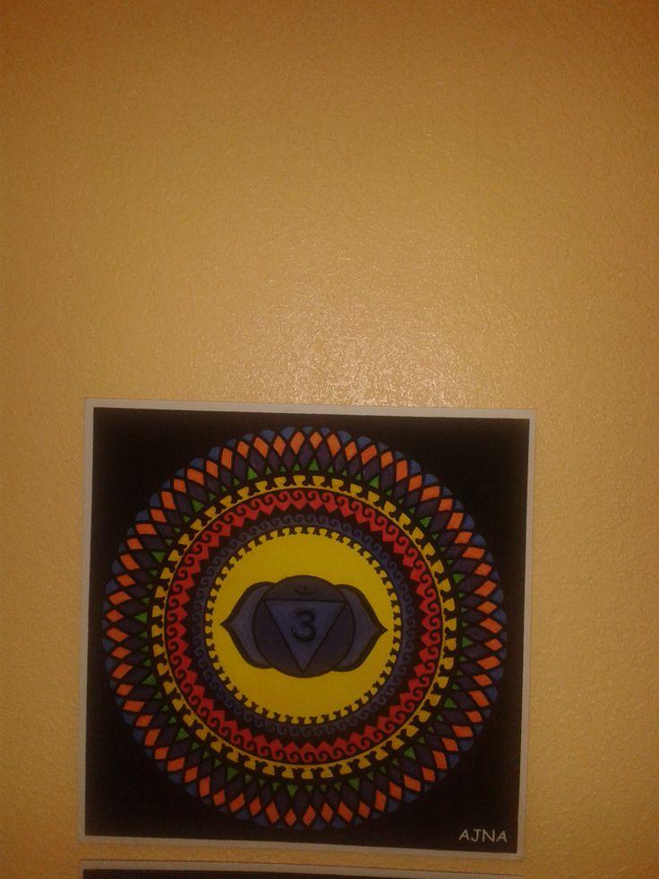 """6º chakra: Indigo o """"chakra del tercer ojo"""" Chakra de la luz, el color, la imagen, la imaginación, la intuición, la visión y los sueños."""