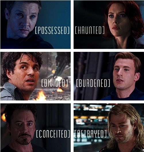 We each must overcome our demons...: Nerd, Demons, Heroes Flaws, Avengers Assembl, Mightiest Heroes, Superheroes, Super Heroes, Earth Mightiest, The Avengers
