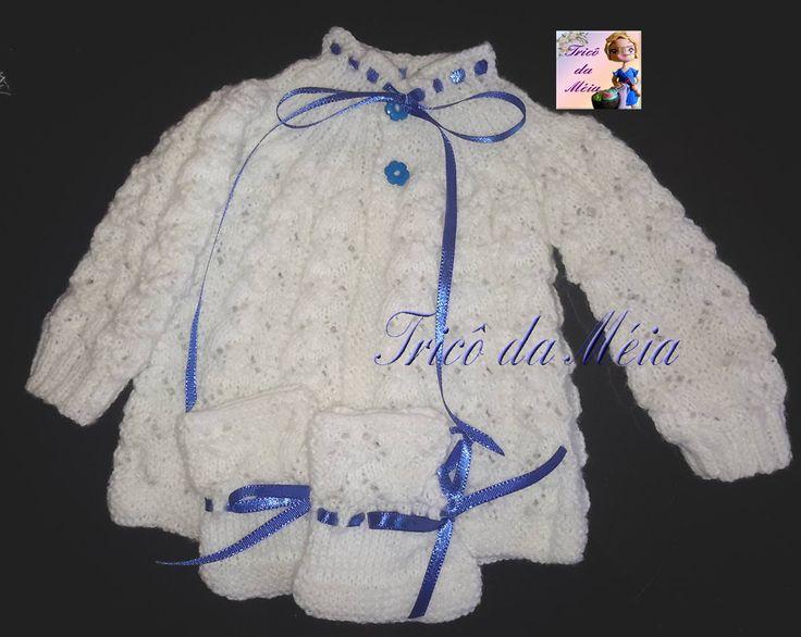 CASAQUINHO DO RENATO  Montar 138 pontos na agulha nº 3 Fazer 5 cordões em tricô  CORPO http://tricodameia.blogspot.com/ 1...