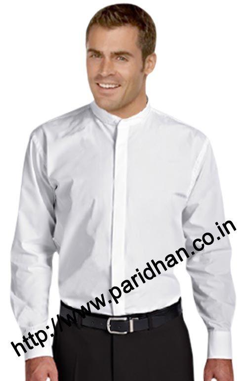Nehru collar shirt Full button down