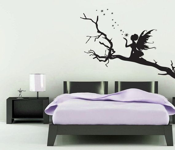 Large Vinyl Wall Art Sticker Decal FAIRY Sitting On A By NSVINYLS, £17.99 Part 84