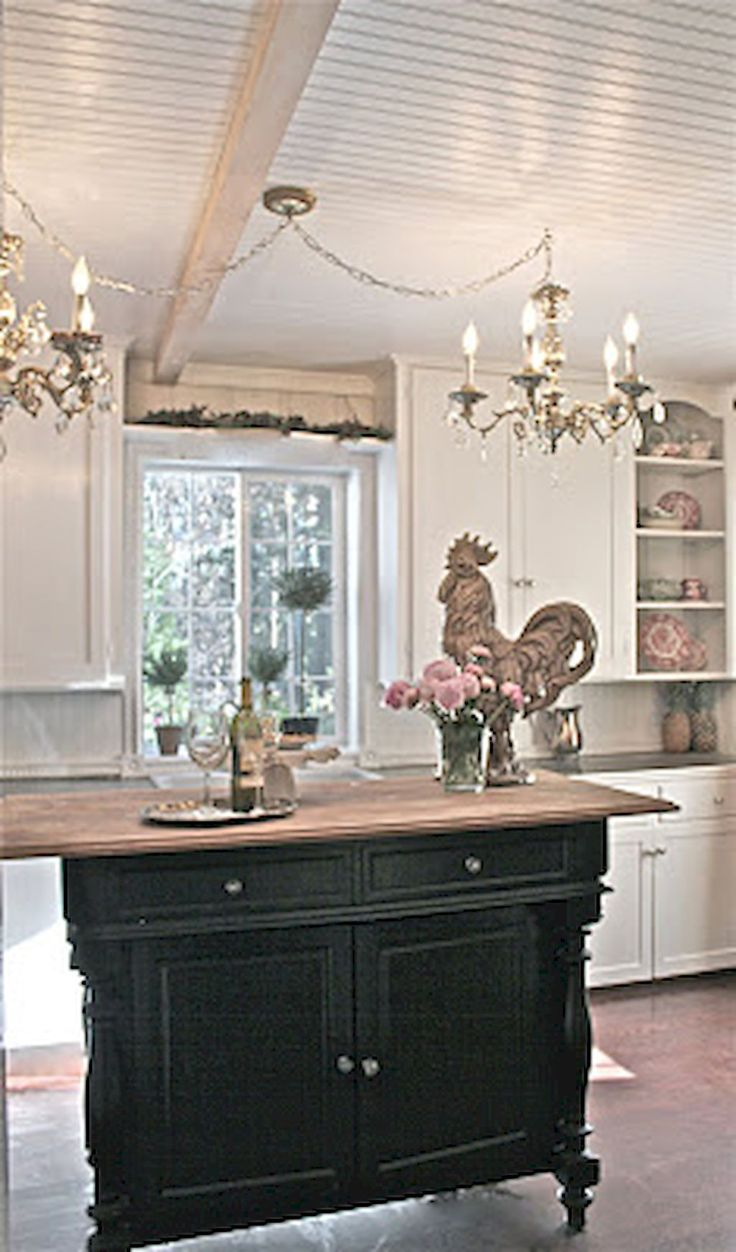 75 Modern French Country Kitchen Decorating Ideas