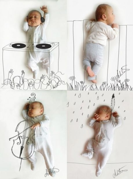 Baby pictures don't have to be boring  Lol.. How freaking adorable are these? I love them :)