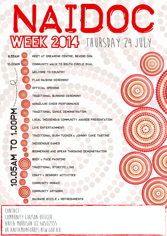 Forbes's NAIDOC Week celebrations for 2014.