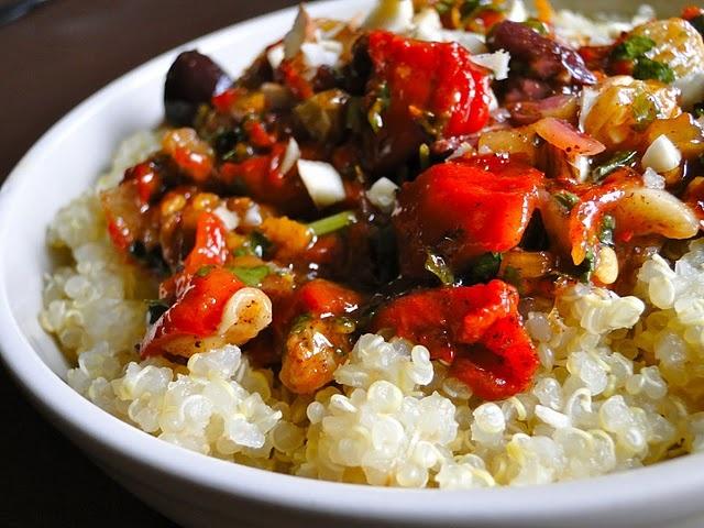 Quinoa w/Moroccan Salsa