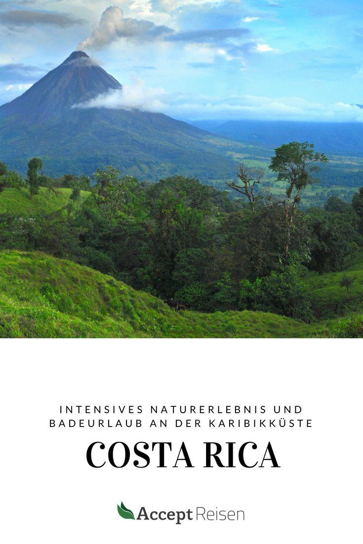 Costa Rica Reise und Badeurlaub:  Du entdeckst die beliebtesten Naturschönheiten des Landes vom Vulkan Arena bis zum Tortuguero Nationalpark und entspannen anschließend am unberührten Karibikstrand.