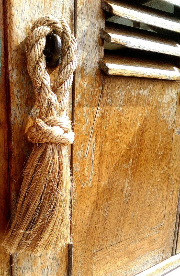 Sailor's Rope Deck Swab, A Nautical Whisk Broom. Ideal for Rustic Style, Beach Decor. Traditional Craft. Natural Rope Hand Crafted. - pinned by pin4etsy.com