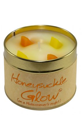 Lily Flame Honeysuckle Glow Tin Candle