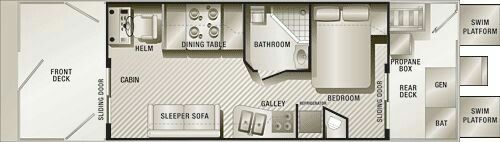 I think this is the best floor plan for a diy houseboat build!