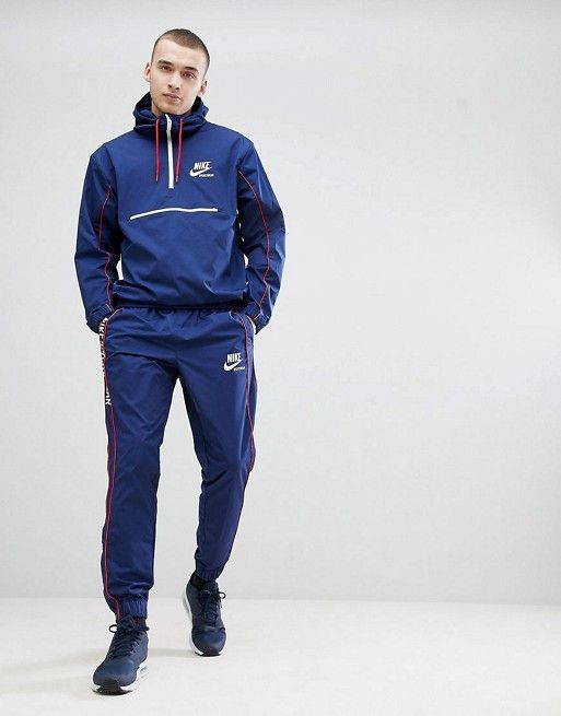 97540c3ee Nike Archive Woven Tracksuit in Navy