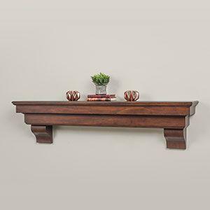 $299.00 unfinished   Salem 60-Inch Wood Mantel Shelf