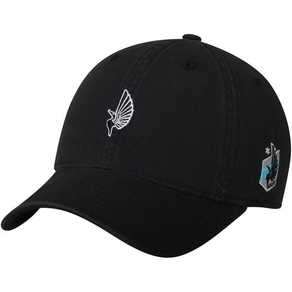 Men's Minnesota United FC adidas Black Slouch Adjustable Dad Hat, Your Price: $23.99