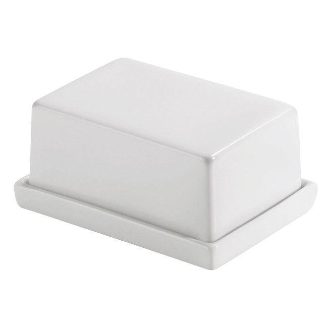 Authentics - Smart - Botervloot - wit/porselein/for 250g/13x10x5.2cm
