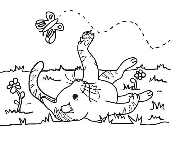 Rain Rain Go Away Coloring Page: Printable Spring Coloring Pages