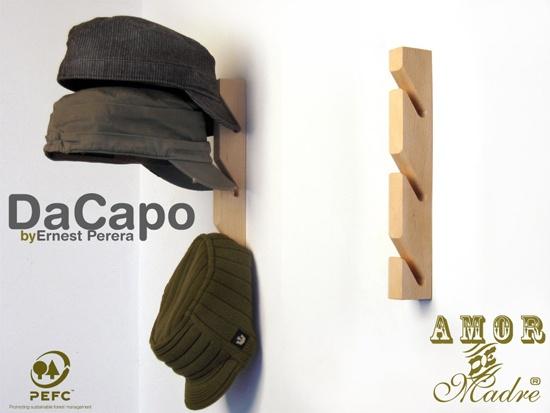 Da capo colgador de pared para gorras bolsos paraguas y for Percheros para bolsos