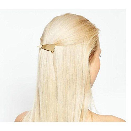 Joyci 1Pcs Geometric Triangle Hair Pin Claw Barrettes Womens Ponytail Holder Headwear Gold >>> You can get additional details at the image link. #HairPins