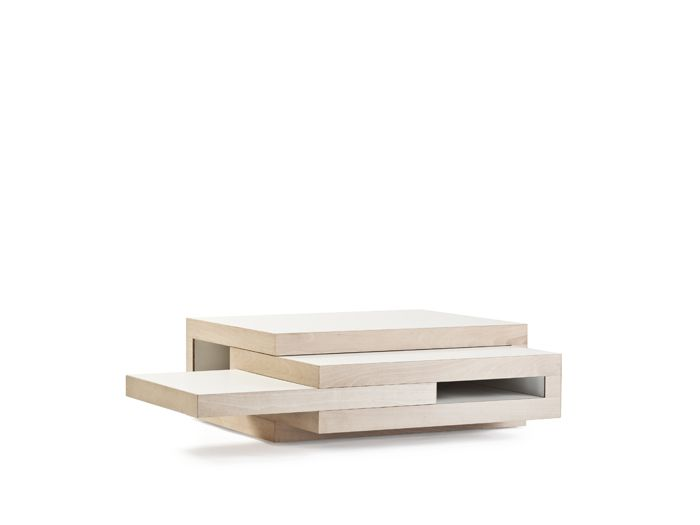 versatile coffee table. extra space when you need it, tuck it away when you don't