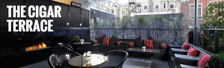 The Cigar Terrace | Playboy Casino London