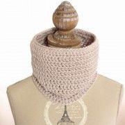 Snood au crochet parme www.ateliernat.com Décoration & accessoires