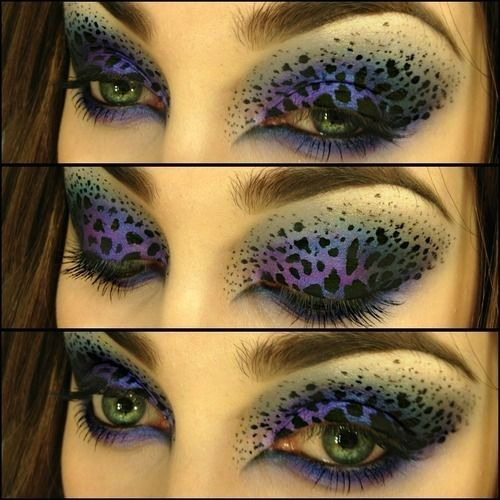 Amazing print make-up..I am hoping this is for Halloween or a Masquarade Party