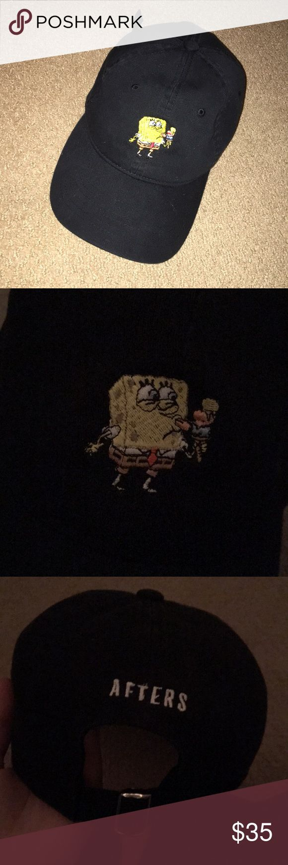 Limited edition spongebob hat Made only for the AFTERS ice cream franchise. Worn a few times but no rips or tears and they don't make it anymore afters Accessories Hats