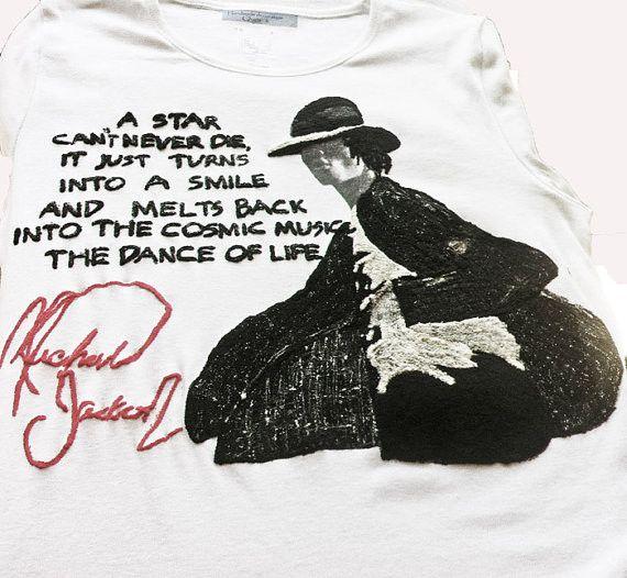 Michael Jackson t-shirt tshirt MJ quote painting tshirt t shirt Tシャツ rock