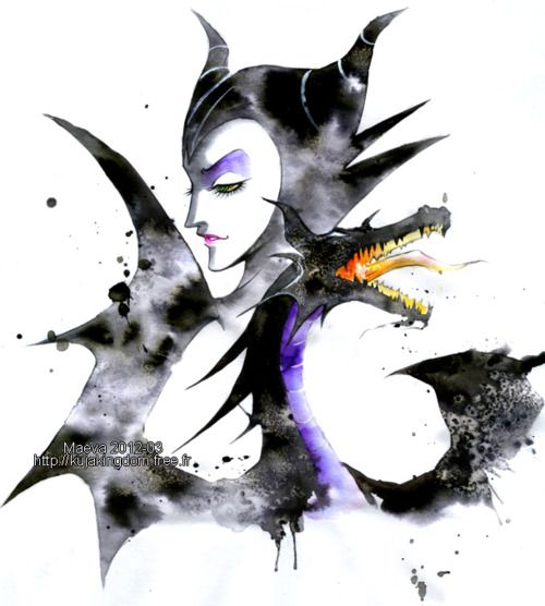Maleficent has always been the coolest Disney villain, and this art does her justice.   # Pin++ for Pinterest #