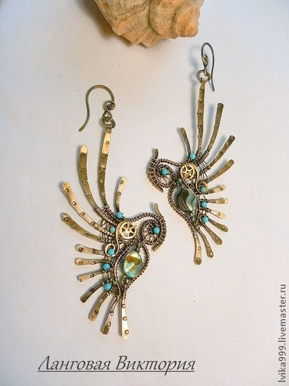 "Handmade earrings. Fair Masters - handmade earrings ""Birds of Paradise"" .. Handmade."
