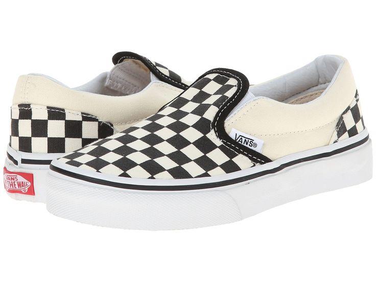 VANS Checkerboard Slip-On Kids | Black/True White
