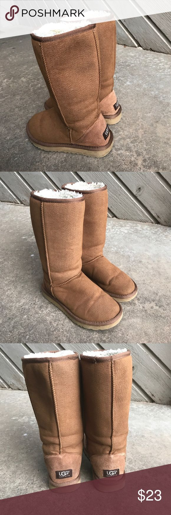 UGG Classic Tall Boots Excellent lightly used condition. Chestnut in color and size 6. UGG Shoes Winter & Rain Boots