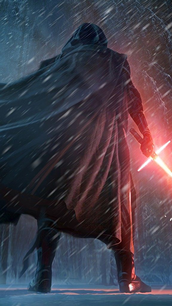 Star Wars The Force Awakens Wallpaper Kylo Ren Snow Scene