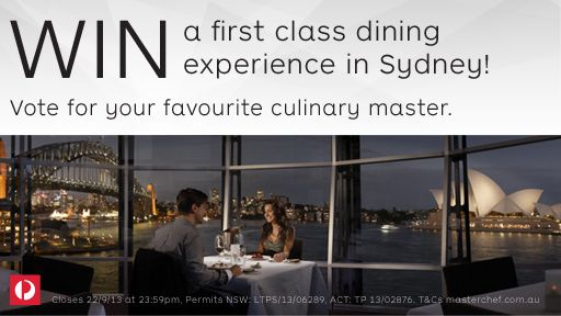 I just selected my favourite Australian Cooking Legends to go into the draw for a fine dining experience in Sydney. Why not enter yourself? - http://www.masterchef.com.au/stamplegends.htm
