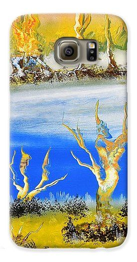 Raw River Galaxy S6 Case Printed with Fine Art spray painting image Raw River by Nandor Molnar (When you visit the Shop, change the orientation, background color and image size as you wish)