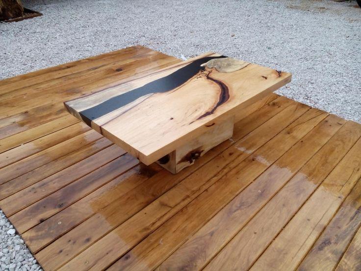 Konferenčný stolík s epoxidovou živicou - Živicové stoly od Teak Nábytok