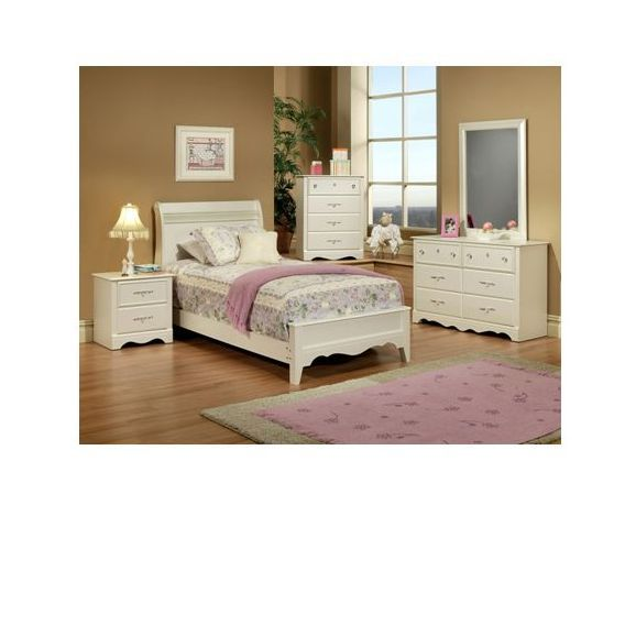 Enchanted 5pc full bedroom set famsa cat logo en l nea for Recamaras infantiles famsa