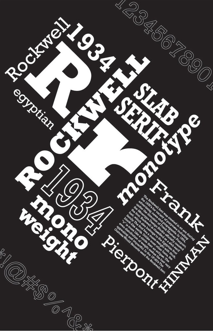 29 best rockwell lettertype images on pinterest typography posters and type design