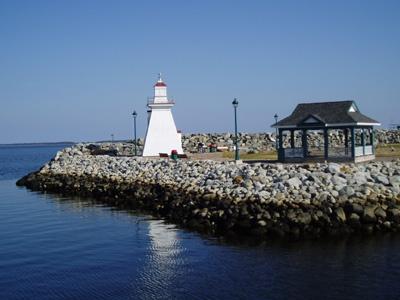 Port Medway Lighthouse. Queens County, Nova Scotia.