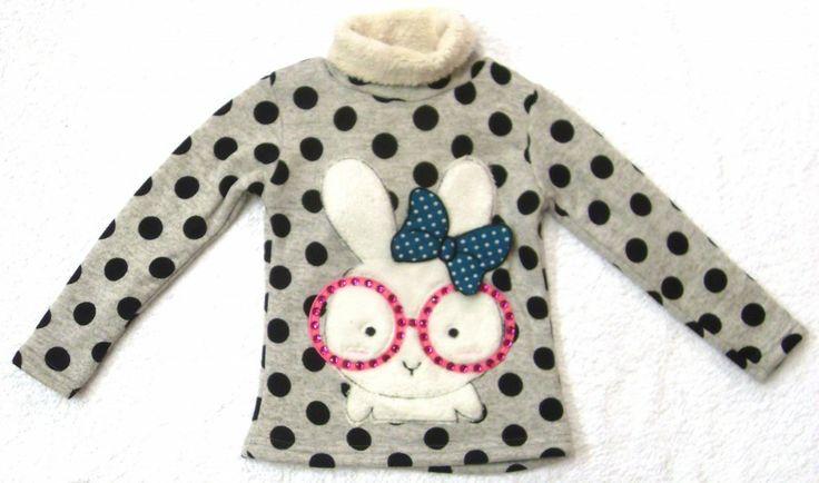 Girls Fun Rabbit Motif Fleece Top £12.99 available in sizes 3-4 year & 7-8 year old