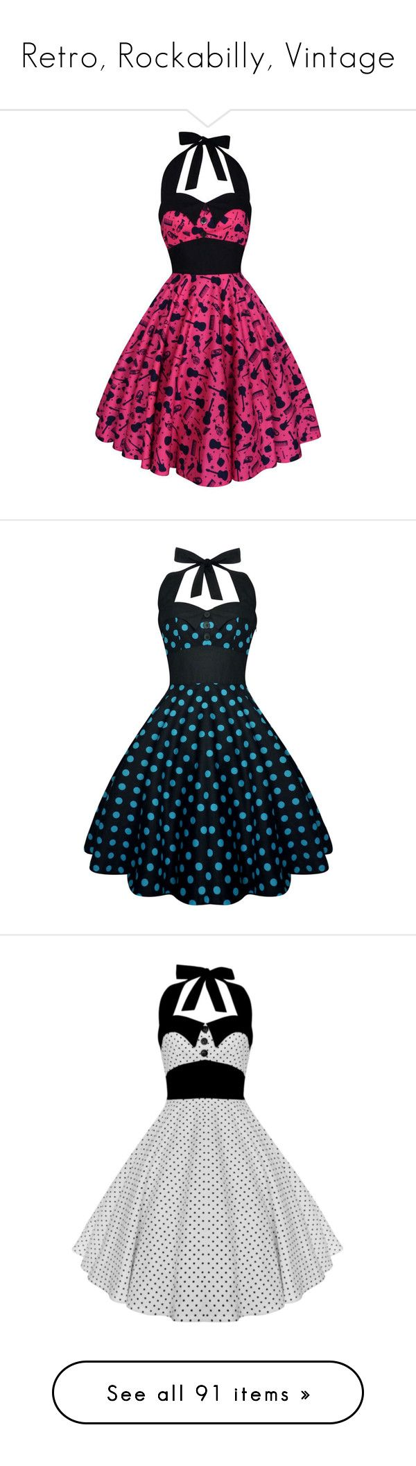 """""""Retro, Rockabilly, Vintage"""" by pati777 ❤ liked on Polyvore featuring dresses, plus size party cocktail dresses, plus size vintage dresses, plus size prom dresses, vintage prom dresses, plus size cotton dresses, grey, women's clothing, vintage dresses and plus size swing dress"""