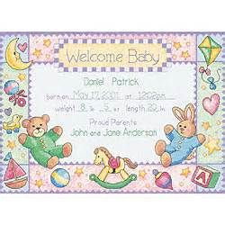 Counted Cross Stitch Baby Announcements - Bing Images