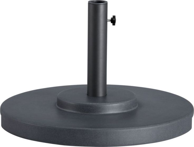 Large Charcoal Outdoor Umbrella Stand  | Crate and Barrel