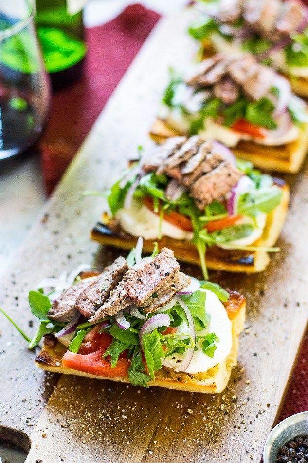 Great for lunch | Topped with arugula, buffalo mozzarella on ciabatta bread