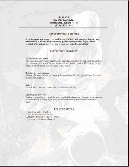 Cover letter examples for construction
